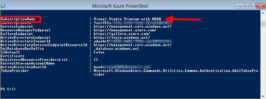 connect Azure with Powershell